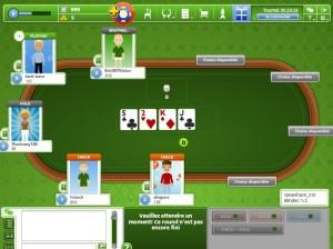 Une manche de poker