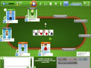 Une table de jeu chez Good game poker